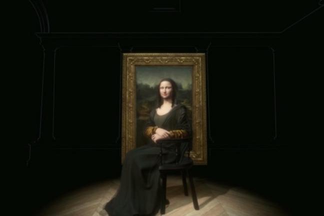 Mona Lisa w 3D