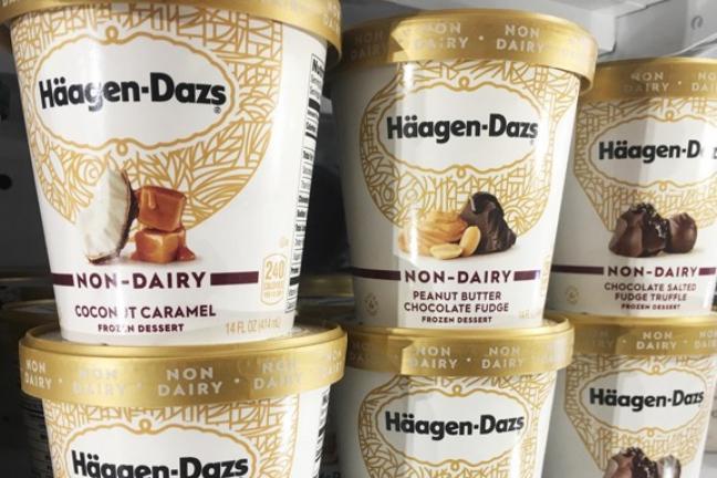 Häagen-Dazs ice cream in a vegan version