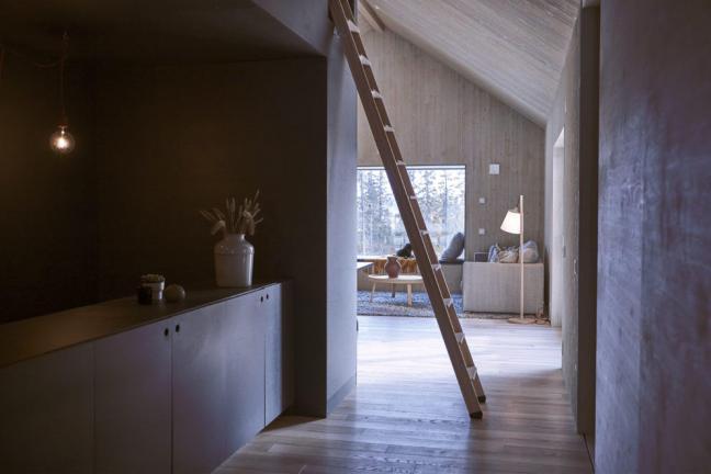 Drewniany dom z widokiem na las